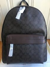 *NWT* Coach Men's Charles Backpack In Signature F55398 Mahogany/Brown