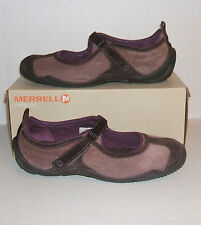 Merrell Circuit MJ Women's Brown Nubuck Leather Mary Jane Loafers Sneaker 10 US