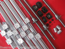 3sets SBR16 linear rail ballscrew RM1605-350/900/1150mm+BK/BF12 end bearing CNC