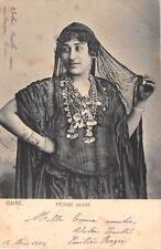 CPA EGYPTE LE CAIRE FEMME ARABE (dos non divisé)