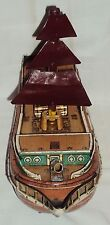 VINTAGE BATTERY OPRATED TIN PLATE SHIP TOY MODERN TOYS (M T) C1960'S JAPAN