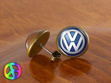 Mens Stud Earrings Ear Studs Volkswagon VW Car Vintage Antique Jewelry Gift