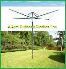 Brand New 4-Arm Outdoor Foldable Clothes line 45 Rotary Clothing Line / Hoist