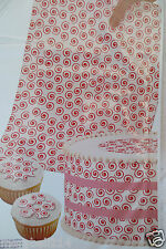 Wilton Sugar Sheet Red Swirl Design For Cake & Cupcakes Decorating New