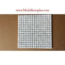 "Mosaic Marble 5/8"" Squares Backsplash Tile Carrera White Kitchen Tile Bathroom"