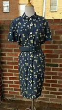 Valentino Floral Navy Dress with belt