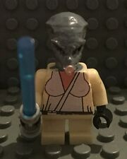 Lego Star Wars Custom Short Alien Jedi Knight with blue light saber