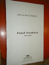 1993 FORD FESTIVA FACTORY WIRING DIAGRAMS SHEETS SERVICE