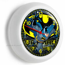 BATMAN FOREVER SUPERHERO WALL CLOCK BOYS BEDROOM MAN CAVE GARAGE HOME ROOM DECOR
