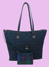 TOMMY HILFIGER Navy Blue Nylon & Leather Tote Bag Msrp $128 *FREE SHIPPING*