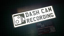 REFLECTIVE DASH CAM  RECORDING  Sticker x1 Car, Van, Lorry, Truck, Boat, safety