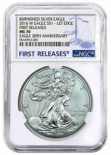 2016-W Burnished American Silver Eagle NGC MS70 First Releases SKU44305