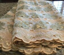 African Swiss Organza Lace Fabric With Rhine Stones. Hand Cut. 5yds.