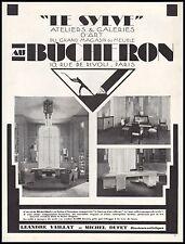 Publicité AU BUCHERON  Design Art Deco  vintage print ad 1929 -6h
