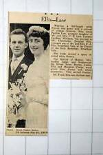 1949 Miss Joyce Law Conway Gardens Mitcham Marries Christopher Ellis Streatham