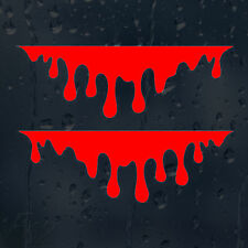 RED Blood Drips Car Graphic Decal Vinyl Sticker For Outside Use Bumper Window