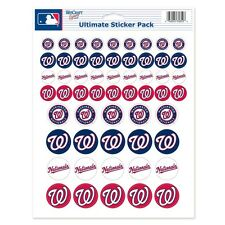 "WASHINGTON NATIONALS 8.5""x11"" ULTIMATE LOGO STICKER SHEET BRAND NEW WINCRAFT"