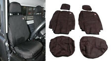 LAND ROVER DEFENDER 90/ 110 2007-ON FRONT SEATS WATERPROOF SEAT COVERS SET BLACK
