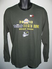 Men's Oregon Ducks Football T-shirt  L or XL 2013 Fiesta Bowl Long Sleeve vtg