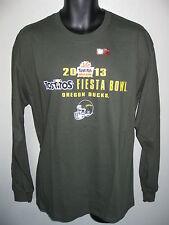 Men's Oregon Ducks Football T-shirt  L or XL 2013 Fiesta Bowl Long Sleeve vtg