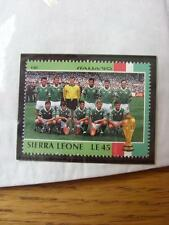 1990 World Cup Stamp: Sierra Leone - Republic Of Ireland Team