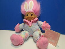 "SOFT EASTER BUNNY - 7"" Russ Troll Doll"