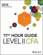 Wiley 11th Hour Guide for 2015 Level II CFA Exam-ExLibrary