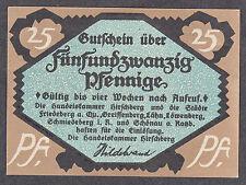 Hirschberg (Schlesien) Serienschein zu 25 Pf.  (L 594)