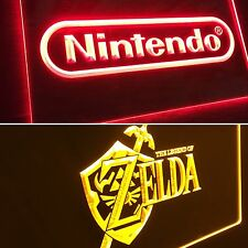 Nintendo and The Legend Of Zelda LED Neon Sign for Game Room,Office,Man Cave NEW