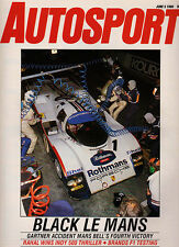 Autosport 5 Jun 1986 - Gartner tragedy at Le Mans, Indianapolis 500, Acropolis