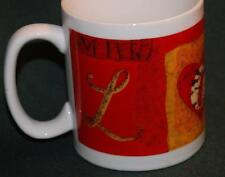 Lindy Bowman ceramic oversized MUG - Wonderful pattern! Graphic L O V E