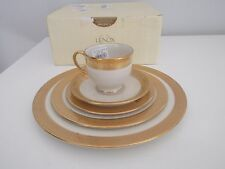 NWB $715 LENOX GORHAM 5 Piece French Perle Charm Place Setting Plate Cup