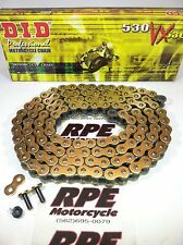 R6 DID Chain VX Series Pro Street X Ring Gold Black 530 Chain With 116 Links