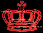 VRS Crown Queen King Princess TWILIGHT INITIAL B Car Decal Metal Sticker LOT 10