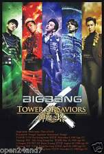 "BIG BANG ""TOWER OF SAVIORS"" POSTER FROM ASIA - Colorful Shots Of  K-Pop Boy Band"