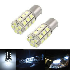 2 x White 1157 P21/4W Car 27 5050-SMD LED Stop Brake Bulbs Lamps Lights CC