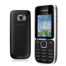 Nokia C2-01-( Unlocked ) 3.2MP Camera 3G Bluetooth FM Black Bar Mobile Phone