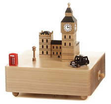 England London Big Ben Wooden Music Box souvenir present gift kids birthday baby