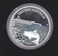 2008 Discover Australia 1 oz ounce $1 Silver Proof Coin Darwin CERTIFICATE 0666