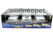 WELLY BACK TO THE FUTURE TIME MACHINE DELOREAN 1/24 PART 1 & 2 & 3 TRILOGY PACK