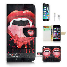 iPhone 7 (4.7') Flip Wallet Case Cover P2372 Vampire Mouse