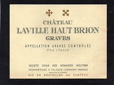 GRAVES GCC VIEILLE ETIQUETTE CHATEAU LAVILLE HAUT BRION 1950/1960 RARE§19/11/16§