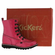 Kickers Kicksohi UK 6/39 Kick So High PINK Patent Leather Boots FRUITS KAWAII