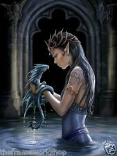 Anne Stokes Dragon de l'Eau - 3D culte Fantasy Photo Poster 300mm x 400mm