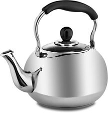 Stainless Steel Tea Pot Kettle - Polished Mirror Finish Vintage Style Small Pot