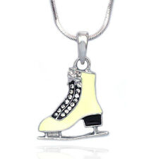 Ivory Ice Figure Skating Sport Shoes Skate Pendant Necklace Gift for Skater