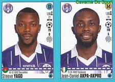 828-829 STEEVE YAGO AKPA-AKPRO TOULOUSE.FC TFC STICKER FOOT 2017 PANINI