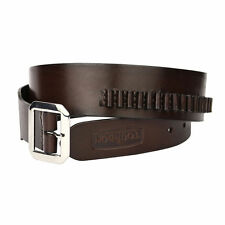 Tourbon Adjustable Real Leather Bandolier Cartridge Belt Ammo Holder Gun for .22