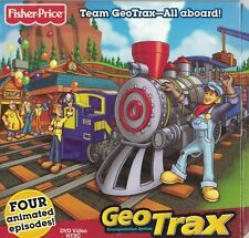 Fisher Price GEO TRAX DVD Animated Cartoon 4 Episodes All Aboard Team GeoTrax