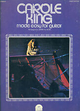 """CAROLE KING """"MADE EASY FOR GUITAR"""" MUSIC BOOK FOR EASY GUITAR WITH VOCALS SALE!!"""